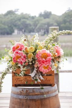 coral charm peonies   Amelia + Dan #wedding