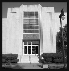 Entrance: Unity Temple--Detroit MI    This is the austere entrance of the 1951 Unity Temple in Detroit's Palmer Park.
