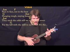 Eye of the Tiger (Survivor) Ukulele Cover Lesson in Am with Chords/Lyrics - YouTube