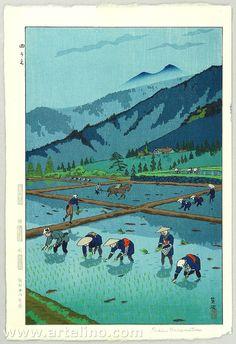 笠松紫浪: Rice Planting - Artelino