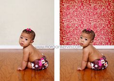 How to put a backdrop behind your picture.  Neat idea and good blog with information on how to.