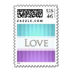 BiColor Stripe Love Postage