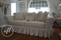 drop cloth sofa cover