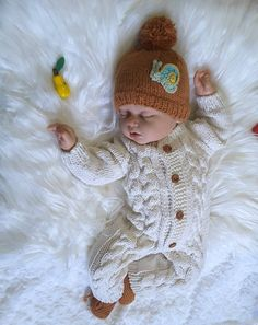 Baby jumpsuit, handknitted cotton jumpsuit, handknitted seamlessly, ecological and undyed yarn, onepiece jumpsuit, knitted jumpsuit by LisiKnit on Etsy