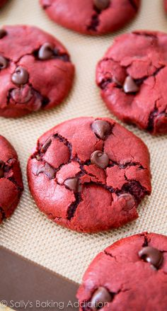 Red Velvet Chocolate Chip Cookie Recipe