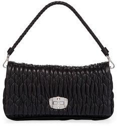 Miu Miu Handbags, Napa Leather, Neiman Marcus, Catwalk, Shoulder Strap, Crossbody Bag, Luxury Fashion, Chain, Model
