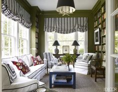 20 Bold Ways To Update Your Home With Olive Green   - ELLEDecor.com