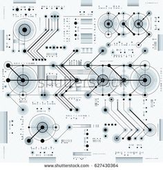 industrial and engineering background, future technical plan. Perspective blueprint of mechanism, mechanical scheme. For use as website background.