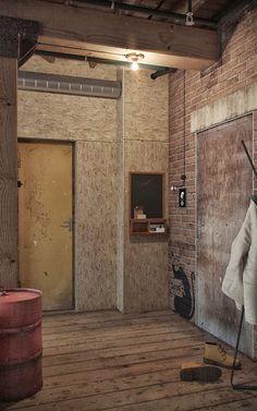 industrial loft entrance space