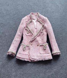 Грубые шерстяные Алмазов КОРОТКИЕ длинные рукава стенд шея кисточкой твидовый пиджак 2016 осень короткая женская одежда женщины пальто и куртки купить на AliExpress