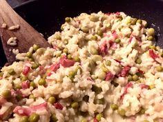 Risotto van spek en gorgonzola Risotto, Rice, Van, Ethnic Recipes, Food, Hush Hush, Essen, Meals, Vans
