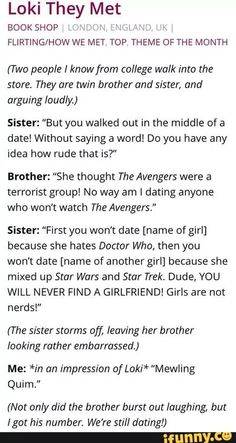 Uh...excuse you, sister. Girls can be huge nerds. Thank you! Marvel Memes, Tumblr Funny, Funny Memes, Jokes, Sweet Stories, Funny Stories, Laugh Out Loud, Funny Cute, Hilarious