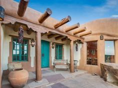recently sold home at 42 San Sebastian Rd, Santa Fe, NM 87505 that sold on December 2018 for No Estimate Available Spanish Style Homes, Ranch Style Homes, Santa Fe Home, Adobe House, Santa Fe Style, Desert Homes, Natural Building, Europe Packing, Traveling Europe