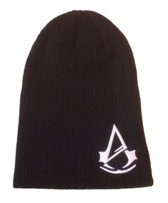 Assassin's Creed Unity Embossed Logo Black Slouch Knit Beanie Skull Cap Hat