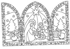 Crochet Christmas Ornaments, Christmas Nativity, Christmas Crafts, Christmas Decorations, Xmas, Fall Crafts, Christmas Coloring Pages, Coloring Book Pages, Coloring Pages For Kids