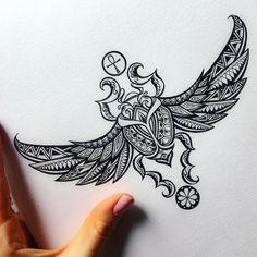 Ideas Tattoo Mandala Design Doodle Art For 2019 Königskobra Tattoo, Leg Tattoos, Body Art Tattoos, Sleeve Tattoos, Script Tattoos, Sanskrit Tattoo, Hamsa Tattoo, Arabic Tattoos, Flower Tattoos