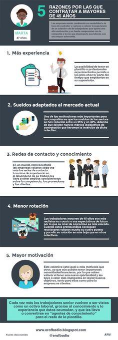 5 razones por las que contratar a mayores de 45 años #infografia #infographic #rrhh | TICs y Formación