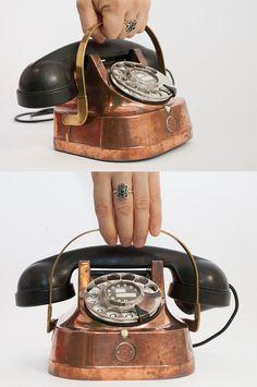 Brass Bakelite phone