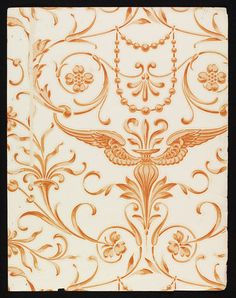 'Mercury' #wallpaper by Lewis Foreman Day, England, ca. 1887-1900 l Victoria and Albert Museum