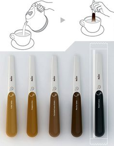 Those of us who are not too particular about our morning brew are largely satisfied with instant coffee packets, pods or other simplified delivery devices. Honey Packaging, Food Packaging Design, Coffee Packaging, Coffee Branding, Innovative Packaging, Design Poster, Instant Coffee, Cool Inventions, Coffee Design