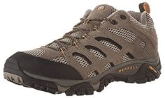 f9872277892 Merrell Men s Moab Ventilator Hiking Shoe Hiking shoe with water-resistant  leather and mesh upper featuring rubber toe bumper and heel counter ...