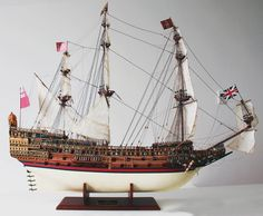 """Launched in 1637, and also known as the infamous """"Golden Devil"""", HMS Sovereign of the Seas was the largest vessel of her time. . . . . . #SovereignoftheSeas #SotS #scalemodel #ships #hobby #mybuild #ship #sailing #sail #boat #sea #ocean #rigging #maritime #sailing #baroque #modelspace #modelspaceus #create #modelmaker #modelmaking #scalemodeller #Instahobby #toystagram #scalemodelsworld #modelship #woodenship #woodenships #handmade #instagood"""