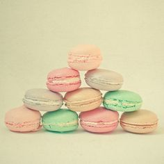 Pastel macaroons, perhaps wedding favors...