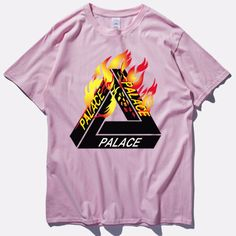 Streetwear 100% Cotton Palace T Shirt High Quality Tee Shirt Men Wonmen Hip Hop Fashion Skateboard Fashion Color Palace Tide