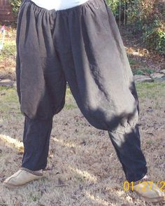 Linen pants - authentic medieval Renaissance clothes, linen mens pants, viking rus pants.