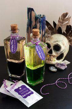 DIY: Magic Potion Bottles #halloween #witch #lavalamp