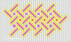 Stitch of the Month Plastic Canvas Stitches, Cross Stitch Tutorial, Needlepoint Stitches, Embroidery Stitches, Needlework, Pink Pillows, Chicken Scratch, Cross Stitch Cards, Ribbon Crafts
