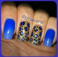 Blue cheetah print
