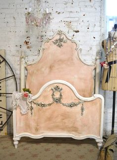 Painted Cottage Romantic French Bed $990.00  by paintedcottages on Etsy