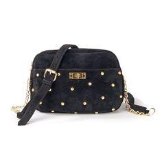 Bolso bandolera con tachuelas, de piel vuelta, con cremallera Mademoiselle, Outfit, Louis Vuitton Monogram, Fashion Backpack, Studs, Backpacks, Pattern, Bags, Chic