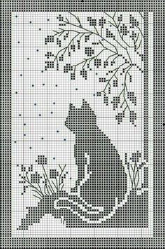 Filet Crochet Charts, Crochet Diagram, Crochet Motif, Crochet Patterns, Beaded Cross Stitch, Crochet Cross, Cross Stitch Embroidery, Embroidery Patterns, Cross Stitch Designs