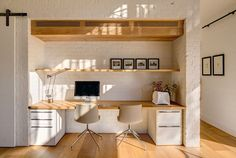 Home Office Contemporary Barn Doors 57 Ideas Office Nook, Home Office Space, Home Office Design, Home Office Decor, House Design, Home Decor, Office Style, Study Office, Office Ideas