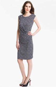 Anne Klein Diamond Print Dress available at #Nordstrom