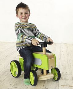 Wooden Tractor Ride On : Wooden Tractor Ride On : Early Learning Centre UK Toy Shop Wood Car, Wood Bike, Metal Toys, Wood Toys, Woodworking Toys, Ride On Toys, Toys Shop, Diy Toys, Kids Furniture