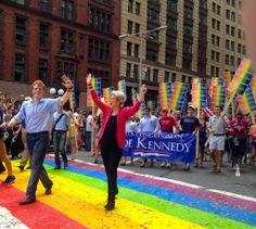 Joe Kennedy for Congress with Elizabeth Warren at Boston's Pride Parade