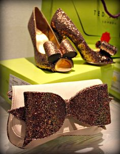 Ted Baker Rose gold shoes and bag. Rose gold. The color of the holiday season.