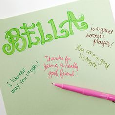 Compliment sheets--a great ice breaker for troop meetings