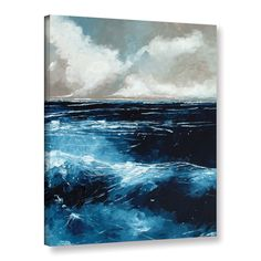 ArtWall Stuart Roy's ' Rolling Sea' Gallery Wrapped Canvas