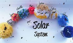 Cute solar system pom poms