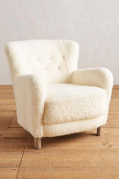 AMAZING FOR THE MASTER BEDROOM SITTING/ ROCKING CHAIR AREA.  Wool Hartwell Chair - anthropologie.com