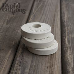 If you love fermenting food in jars, these handy weights are for you! Handmade in Oakland, these porcelain weights are designed to weigh down your fermenting vegetables so they stay under the brine. U
