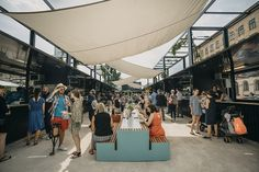 World Architecture Community News - Manifesto Market transforms Prague's heartland with black containers as a new food space Concept Models Architecture, Landscape Architecture, Landscape Design, Architecture Design, Architecture Diagrams, Architecture Portfolio, Urban Furniture, Street Furniture, Marrakesh