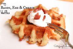 Bacon, Egg & Cheese Waffle1