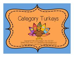 Grab this free speech therapy item just in time for Thanksgiving. I've updated my Turkey Categories game! Students should sort the feathers with items onto the correct category bird. your students can sort turkey feathers onto the correct category bird. Speech Therapy Activities, Speech Language Pathology, Language Activities, Speech And Language, Learning Activities, Early Childhood Activities, Receptive Language, Thanksgiving Activities, Thanksgiving Cornucopia