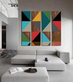 Simple Canvas Paintings, Modern Canvas Art, Diy Canvas Art, Diy Wall Art, Wall Canvas, Wall Decor, Abstract Geometric Art, Diy Arts And Crafts, Wall Sculptures