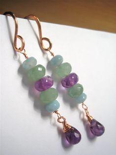 Beautiful hand-made earrings